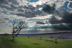 Stunning scene across escarpment landscape Royalty Free Stock Images