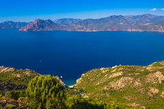 Stunning scenery of D81 road, Corsica, France Royalty Free Stock Photography