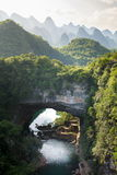 Stunning scenery of Guangxi province, China Royalty Free Stock Images