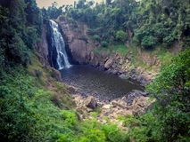 Stunning scenery of Haew Narok Waterfall,Khao Yai National Park,Nakhon Ratchasima province,Thailand. Khao Yai National Park is Thailand`s first national park and Royalty Free Stock Photo