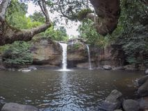 Stunning scenery of Haew Suwat Waterfall, Khao Yai National Park,Nakhon Ratchasima province,Thailand. Khao Yai National Park is Thailand`s first national park royalty free stock image