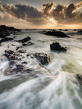 Stunning scenery and magical light of Pandak beach Located in Terengganu,Malaysia Stock Images