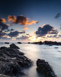 Stunning scenery and magical light of Pandak beach Located in Terengganu,Malaysia during sunrise Royalty Free Stock Photography