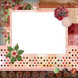 Stunning scrapbook album page layout 8x8 inches, gypsy bohemian style. royalty free stock images