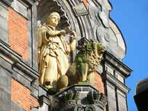 Stunning sculpture on the facade of Malmo city hall, Malmo. Sweden Royalty Free Stock Photos