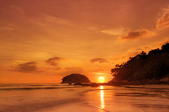 Stunning sea sunset horizon over water . Travel tropical ,heaven on earth,phuket stock photography