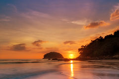 Stunning sea sunset horizon over water. Travel tropical ,heaven on earth,phuket royalty free stock photography