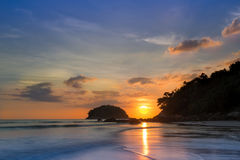 Stunning sea sunset horizon over water. Travel tropical ,heaven on earth,phuket stock images