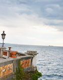Stunning Sea View. Miramare Castle in Triest, Italy Stock Photo