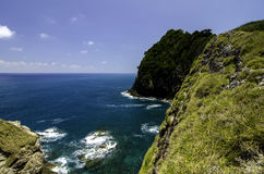 Stunning seascape from the cliff top at sunny day. Stock Photos