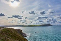 Stunning seascape near Polzeath, North Cornwall royalty free stock image