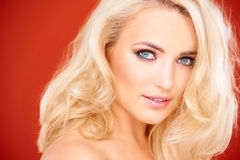 Stunning sensual blond woman Stock Images