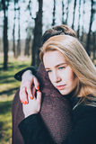 Stunning sensual outdoor portrait of young stylish fashion couple Stock Images