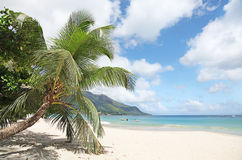 The stunning Seychelles. The most outstanding Beach Bau Vallon Bay on the Main island of Mahe in the Seychelles, taken in June of 2010 Stock Photography