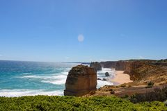 Great ocean road australia stock photo