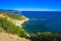 Stunning South coast of Sardinia, Italy Stock Photography