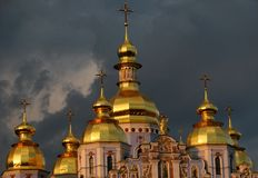 Stunning St. Michael's Cathedral Kiev, Ukraine Royalty Free Stock Image