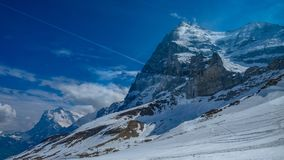 Stunning Steep Snow Mountain View royalty free stock photo