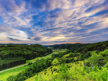 Stunning Summer Evening Landscape in the rural Countryside of Ba Royalty Free Stock Photography