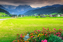 Stunning summer landscape with high mountains,Gosau,Austria,Europe Royalty Free Stock Images
