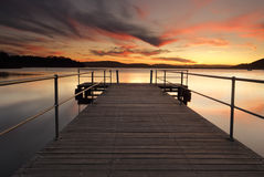 Stunning summer sunset from Carak Wharf Royalty Free Stock Photo