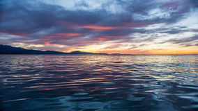 Stunning Sunrise  below stearns Wharf Stock Image