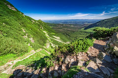 Stunning sunrise at Czarny Staw Gasienicowy in summer, Tatras. Europe Royalty Free Stock Images