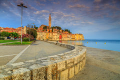 Stunning sunrise with Rovinj old town,Istria region,Croatia,Europe Stock Photography