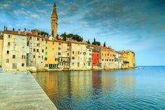 Stunning sunrise with Rovinj old town,Istria region,Croatia,Europe royalty free stock photos