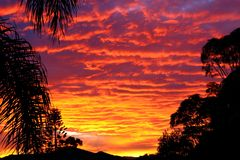 Stunning Sunset 2. Stunning, vibrant sunset taken in winter, Gold Coast Royalty Free Stock Image