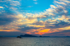 Stunning sunset in the Aegean sea. Nature. Royalty Free Stock Photography