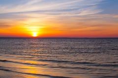 Stunning sunset on the empty beach, Cape Cod, USA Stock Image