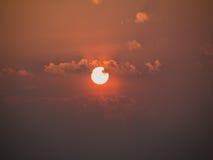 Stunning sunset golden sky Stock Images