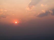 Stunning sunset golden sky Stock Photo