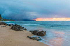 Stunning sunset in Hawaii Royalty Free Stock Photography