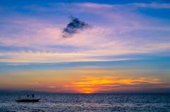 Stunning sunset over San Remigio, Cebu, Philippines Royalty Free Stock Images