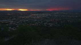Stunning sunset over Townsville at night, Queensland, Australia stock video footage