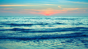 A stunning sunset at the sea. tNaure. Royalty Free Stock Images