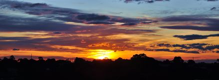 Stunning sunset Stock Images