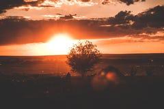 Stunning sunset vanilla. Beautiful clouds, tent royalty free stock image