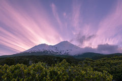 Stunning sunset view of mountain Royalty Free Stock Image