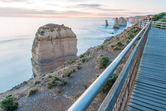 Stunning sunset view of Twelve Apostles, Great Ocean Road - Vict Stock Images