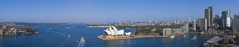 Stunning Sydney Harbour Panorama XXXL Stock Photography
