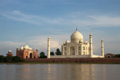 The stunning Taj Mahal in Agra, Uttar Pradesh, India, as seen from across the river Royalty Free Stock Photos