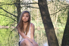 Stunning teenage girl in forest Royalty Free Stock Image