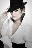 Stunning Teenage Girl Wearing a Hat stock photography