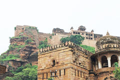 The stunning 8th-century painted Gwalior fort Madhya Pradesh  In Stock Photography
