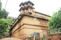 The stunning 8th-century painted Gwalior fort Madhya Pradesh  In Royalty Free Stock Photography