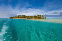 Stunning tropical beach at exotic island in Pacific Stock Photos