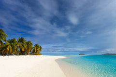 Stunning tropical beach at exotic island in Pacific Royalty Free Stock Images